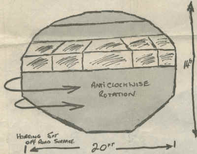 PC Godfrey's drawing of the object that he saw on the night of 28th November 1980