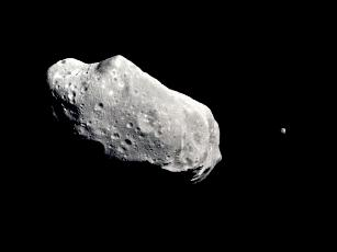 Asteroid Ida and its tiny 'moon', Dactyl