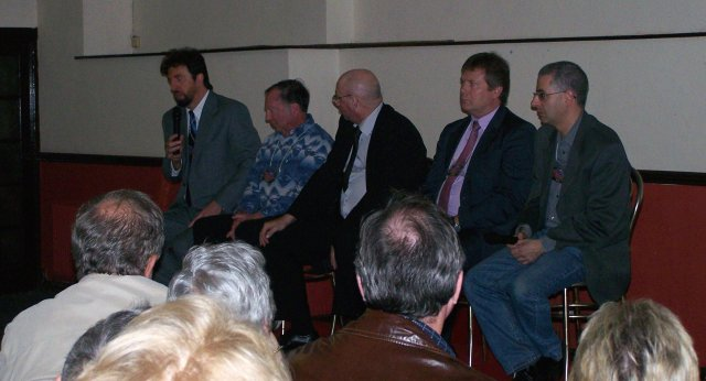 Speakers' Q&A (left to right): Don Schmitt, Jesse Marcel Jr., Russel Callaghan, Gary Heseltine, Nick Pope